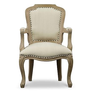 Baxton Studio Poitou 23.2'' W x 19.5'' D Accent Chair, Beige (6023-STPL)
