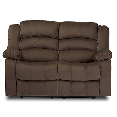 Baxton Studio Hollace 59.67'' W x 35.1'' D Recliner, Taupe (6953-STPL)