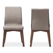 "Baxton Studio Kimberly 19.49""W x 22.83""D Dining Chair, Grey, 2/Pack (7181-2PC-STPL)"