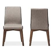 "Baxton Studio Kimberly 19.49""W x 22.83""D Dining Chair, Gray (7181-2PC-STPL)"