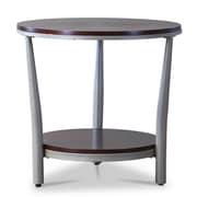 "Baxton Studio Halo 23""W x 23""D Accent Table, Brown (6015-STPL)"