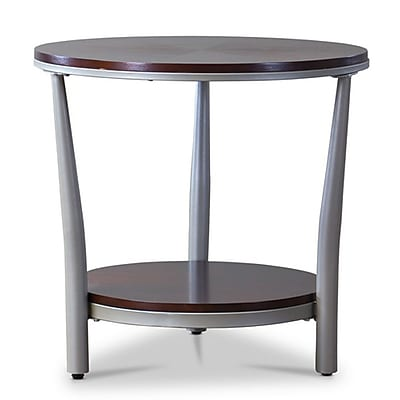 Baxton Studio Halo 23'' W x 23'' D Accent Table, Brown (6015-STPL)