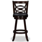 Baxton Studio Anthea 18'' W x 19'' D Bar Stool, Brown (6433-2PC-STPL)