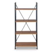 Baxton Studio New 23.75'' W x 12.6'' D Bookshelf, Brown (5390-STPL)