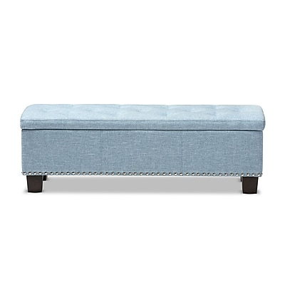 Baxton Studio Hannah 52.17'' W x 16.73'' D Bench, Light Blue (7052-STPL)