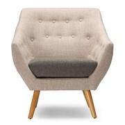 Baxton Studio Astrid 32.5'' W x 28.5'' D Accent Chair, Beige (6296-STPL)