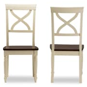 "Baxton Studio Ashton 17.16""W x 23.01""D Dining Chair, Light Brown, 2/Pack (6935-2PC-STPL)"