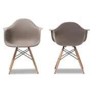 "Baxton Studio Pascal 24.2""W x 23.2""D Dining Chair, Grey, 2/Pack (5314-2PC-STPL)"