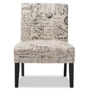 """Baxton Studio Phaedra 25.35""""W x 26.33""""D Dining Chair, Beige Print (5292-STPL)"""