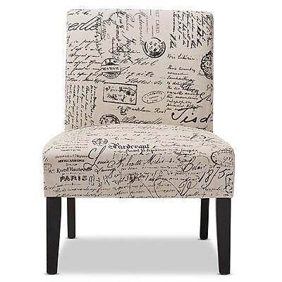 Baxton Studio Phaedra 25.35'' W x 26.33'' D Dining Chair, Beige Print (5292-STPL)