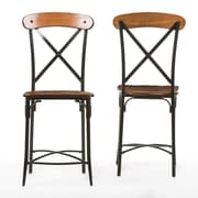 Baxton Studio Broxburn 18.13'' W x 18.13'' D Bar Stool, Brown (6053-2PC-STPL)