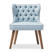Baxton Studio Scarlett 25.39'' W x 24.02'' D Accent Chair, Light Blue (7080-STPL)