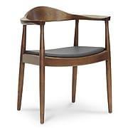 "Baxton Studio Embick 25.13""W x 21.25""D Dining Chair, Dark Brown (3425-STPL)"