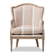 Baxton Studio Charlemagne 26.8'' W x 26'' D Accent Chair, Beige (5487-STPL)