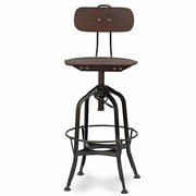 Baxton Studio Justin 16.5'' W x 16.5'' D Bar Stool, Brown (6166-STPL)