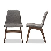"Baxton Studio Embrace 19.5""W x 22.23""D Dining Chair, Dark Gray (6799-2PC-STPL)"
