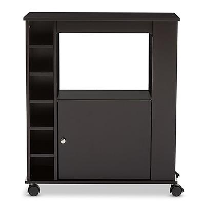 Baxton Studio Ontario 28.86'' W x 13.65'' D Wine Cabinet, Dark Brown (6633-STPL)