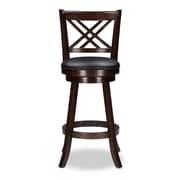 Baxton Studio Timothy 17.5'' W x 19'' D Bar Stool, Brown (6432-2PC-STPL)