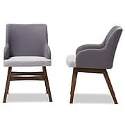 "Baxton Studio Monte 21.26""W x 24.8""D Dining Chair, Gray (7176-2PC-STPL)"