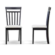 "Baxton Studio Jet 17.25""W x 16.6""D Dining Chair, Dark Brown (5335-2PC-STPL)"