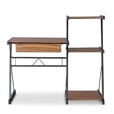 Baxton Studio New 44.5'' W x 19.75'' D Desk, Brown (5392-STPL)