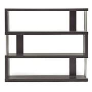 Baxton Studio Barnes 43.38'' W x 11.5'' D Bookshelf, Dark Brown (4339-STPL)