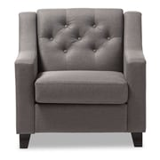Baxton Studio Arcadia 32.28'' W x 30.12'' D Accent Chair, Gray (7090-STPL)