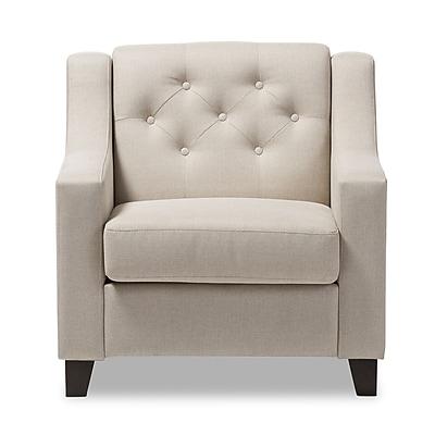 Baxton Studio Arcadia 32.28'' W x 30.12'' D Accent Chair, Light Beige (7091-STPL)