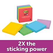 """Post-it® Super Sticky Notes, 3"""" x 3"""", Marrakesh Collection, 90 Sheets/Pad, 5 Pads/Pack (654-5SSAN)"""