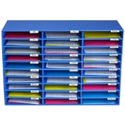 AdirOffice Classroom 30 Slots Blue File Organizer