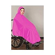 AdirMed Wheelchair Waterproof Pink Poncho With Hood