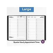 "2021 AT-A-GLANCE 8"" x 11"" Appointment Book, Two-Person, Black (7022205)"