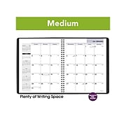 "2021 AT-A-GLANCE 7"" x 8.75"" Planner, DayMinder, Black (G400-00-21)"