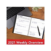 """2021 AT-A-GLANCE 8.5"""" x 11"""" Planner, DayMinder, Gray (GC545-07-21)"""