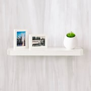 "Way Basics 23.6""W x 1.6""H Uniq Floating Wall Shelf and Modern Decorative Eco Shelf, White (WS-24-WE)"