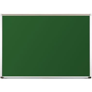 Best-Rite Green Porcelain Steel Chalkboards with Deluxe Aluminum Trim, 4 x 16 Feet (104AP-20)