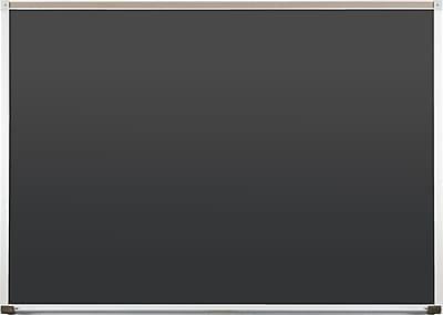 Best-Rite Black Porcelain Steel Chalkboards with Deluxe Aluminum Trim, 4 x 8 Feet (104AH-23)