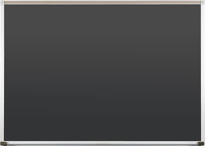 Best-Rite Black Porcelain Steel Chalkboards with Deluxe Aluminum Trim, 4 x 4 Feet (104AD-23)