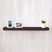 "Way Basics 35.4""W x 1.6""H Uniq Floating Wall Shelf and Modern Decorative Eco Shelf, Espresso (WS-36-EO)"