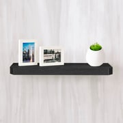 "ay Basics Eco Friendly 24"" Uniq Floating Wall Shelf and Decorative Shelf, Black - Lifetime Guarantee"