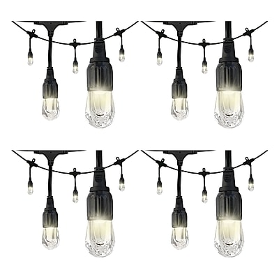 4 Pack Enbrighten 31660 Cafe Led Lights (12ft; 6 Acrylic Bulbs)