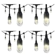 4 Pack Enbrighten 33307 Cafe Led Lights (18ft; 9 Acrylic Bulbs)