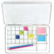 InterDesign Clarity Office Organizer with Lid for Desktop or Drawer (39530)