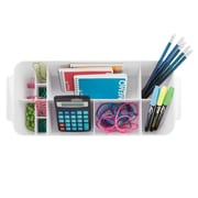 InterDesign Clarity Organizer Tote for Desk, Cabinet or Vanity to Hold Office Supplies (35971)