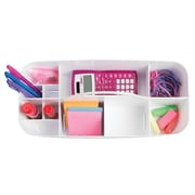 InterDesign Clarity Organizer Tote for Desk, Cabinet or Vanity to Hold Office Supplies (39781)