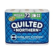 Quilted Northern Ultra Soft & Strong 2-Ply Standard Toilet Paper, White, 328 Sheets/Roll, 18 Rolls/Case (94475501)