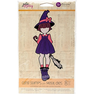 Prima Marketing 911614 Julie Nutting Stamp & Die Set-Lil' Witch