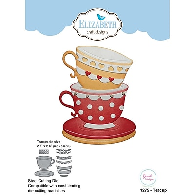Elizabeth Craft Designs EC1275 Elizabeth Craft Metal Die By Joset Designs-Teacup, 2.7