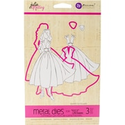 Prima Marketing 911591 Julie Nutting Metal Die-Coordinates W/Rita Stamp 11102