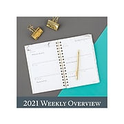"2021 Cambridge 5.5"" x 8.5"" Planner, Bianca, Gray Marble (1461-200-21)"